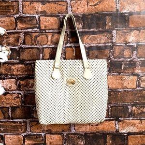 Vintage Whiting and Davis White Metal Mesh Handbag